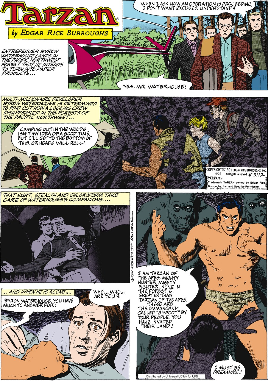 Tarzan for Apr 28, 2013 Comic Strip