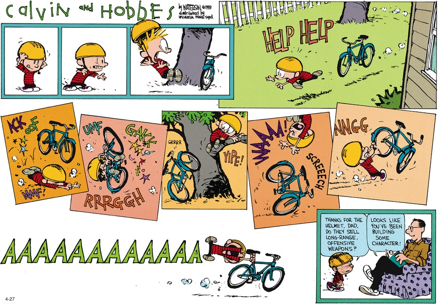 Calvin and Hobbes Comic Strip for June 13, 1993