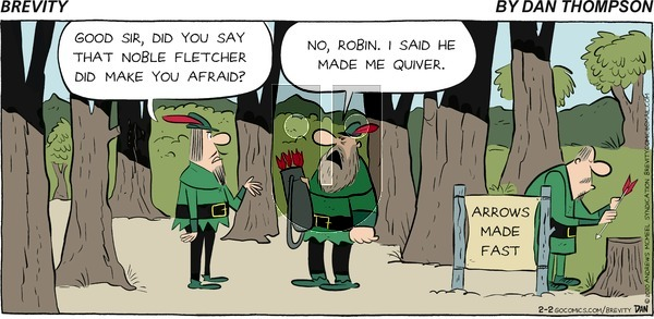 Brevity on Sunday February 2, 2020 Comic Strip