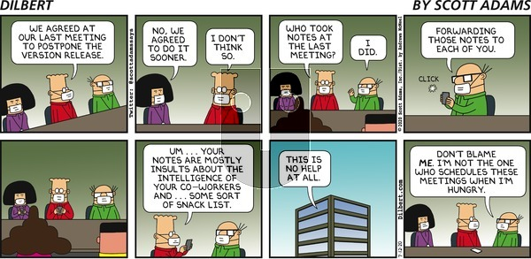 Dilbert on Sunday July 12, 2020 Comic Strip