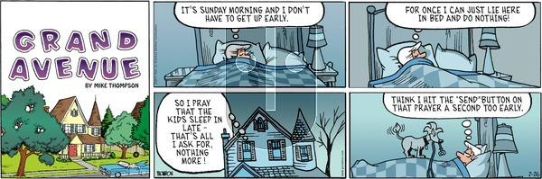 Grand Avenue on Sunday February 26, 2017 Comic Strip