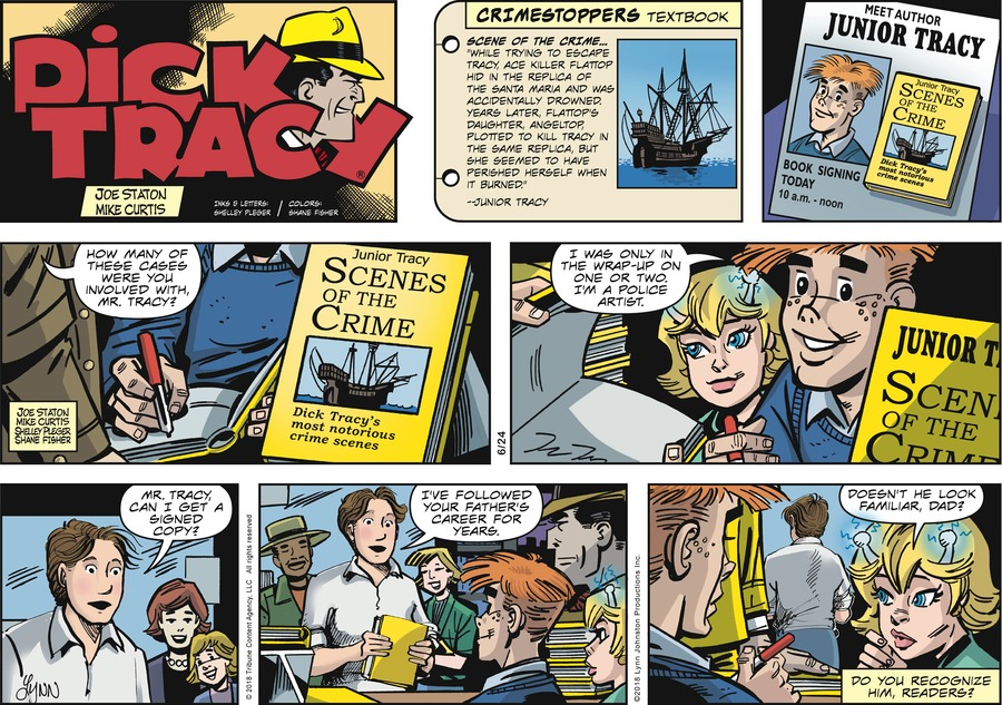 Dick Tracy Comic Strip for June 24, 2018