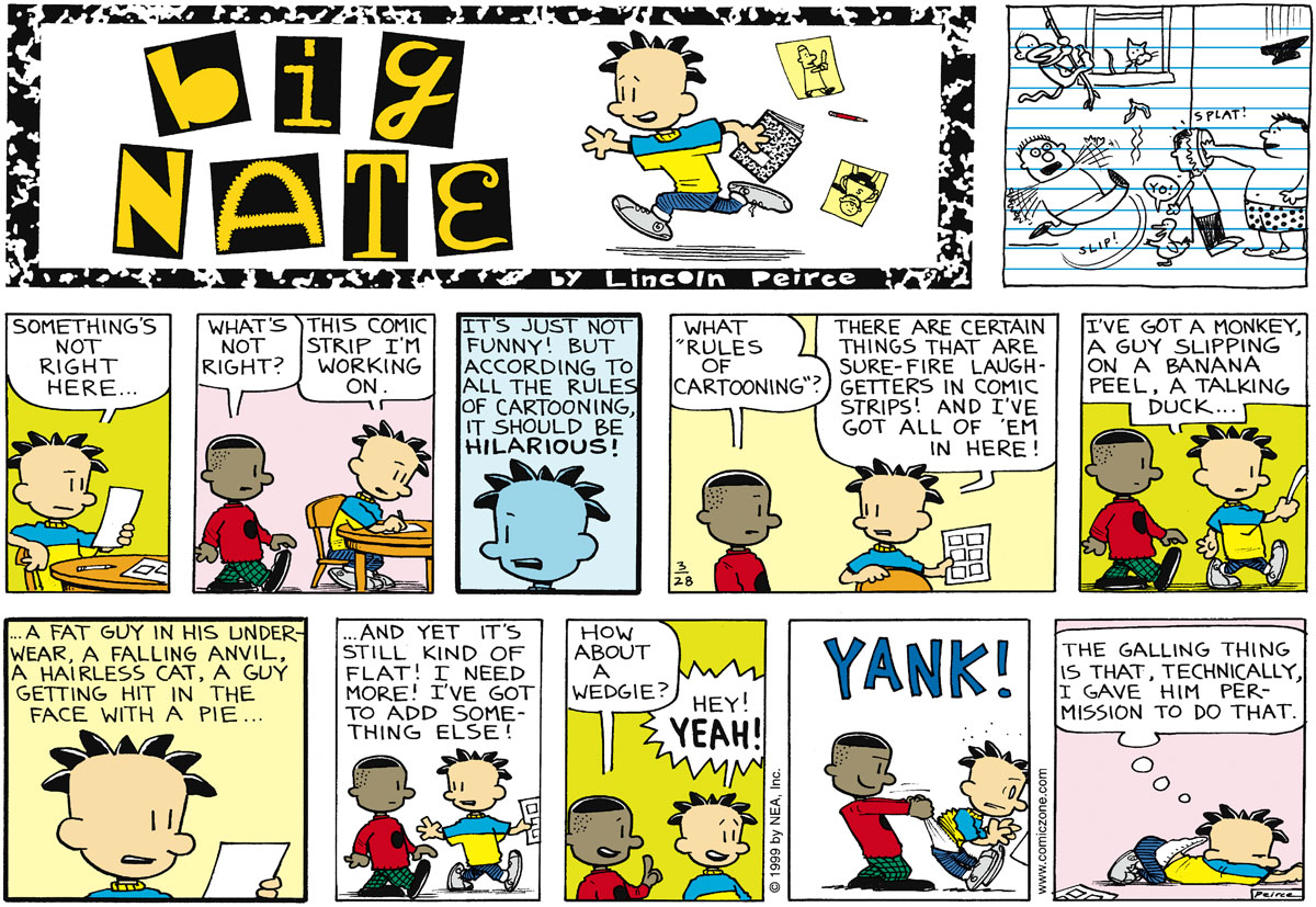 Big Nate Comic Strip for March 28, 1999