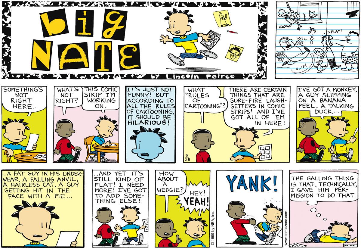 Big Nate for Mar 28, 1999 Comic Strip