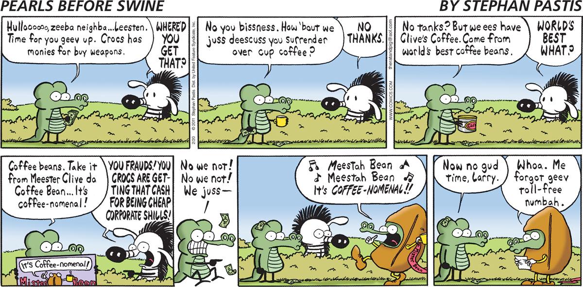 Pearls Before Swine Comic Strip for February 20, 2011
