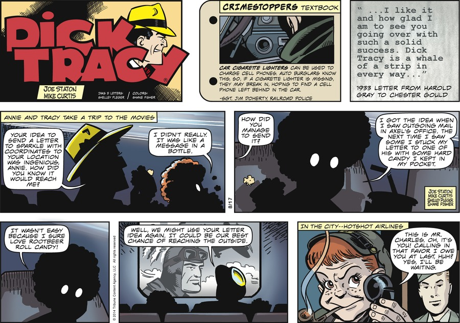 Dick Tracy for Aug 17, 2014 Comic Strip