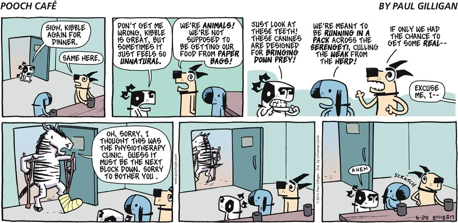 Pooch Cafe Comic Strip for June 29, 2014
