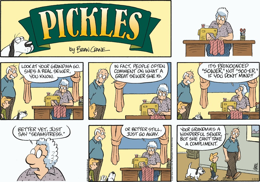 Pickles by Brian Crane for May 12, 2019