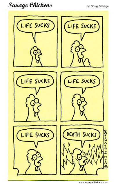 Savage Chickens Comic Strip for August 28, 2017