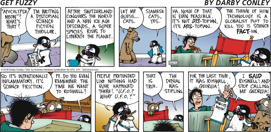 Get Fuzzy for Jun 24, 2018 Comic Strip