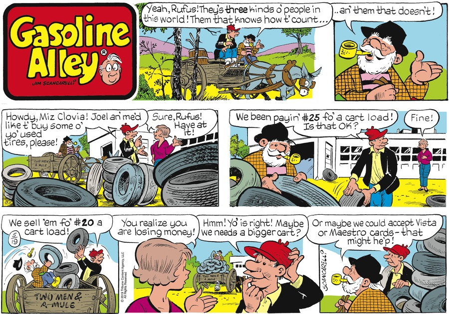Gasoline Alley by Jim Scancarelli for May 19, 2019