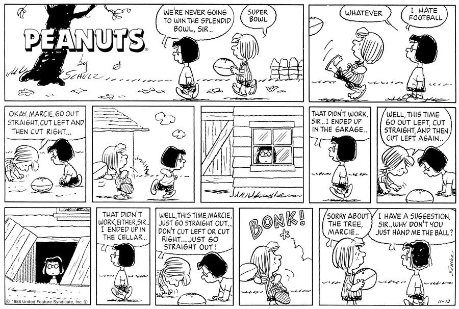 Peanuts Comic Strip for November 13, 1988