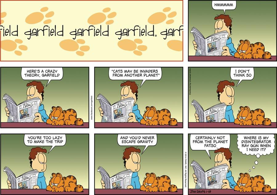 Garfield Comic Strip for January 19, 2014