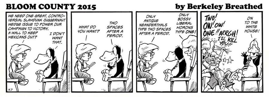Bloom County 2019 Comic Strip for October 01, 2015