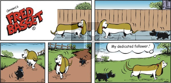 Fred Basset - Sunday March 29, 2020 Comic Strip