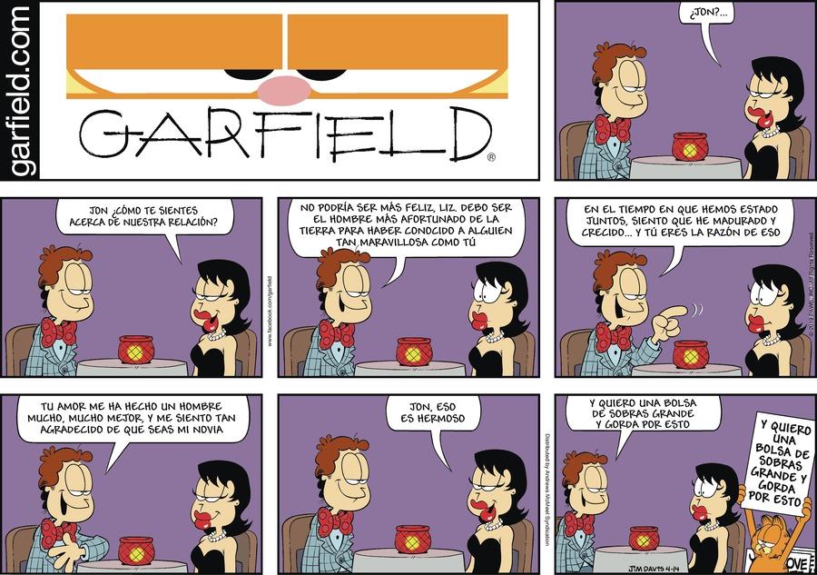 Garfield en Español Comic Strip for April 14, 2019