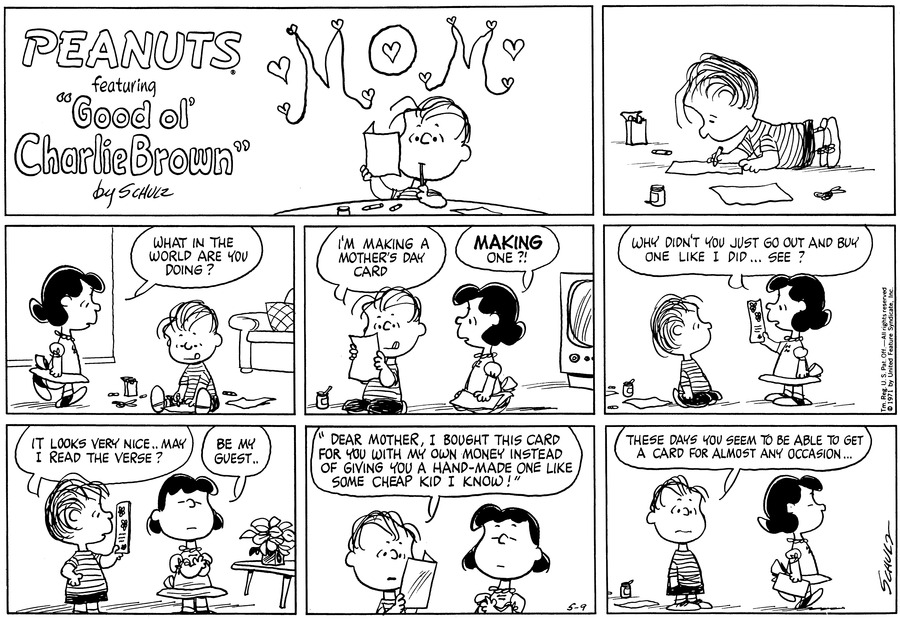 Peanuts Comic Strip for May 09, 1971