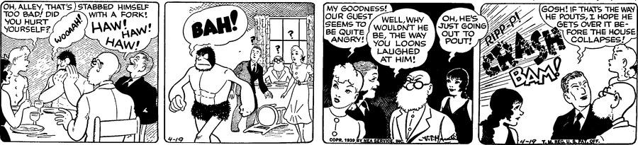 Alley Oop Comic Strip for April 19, 1939