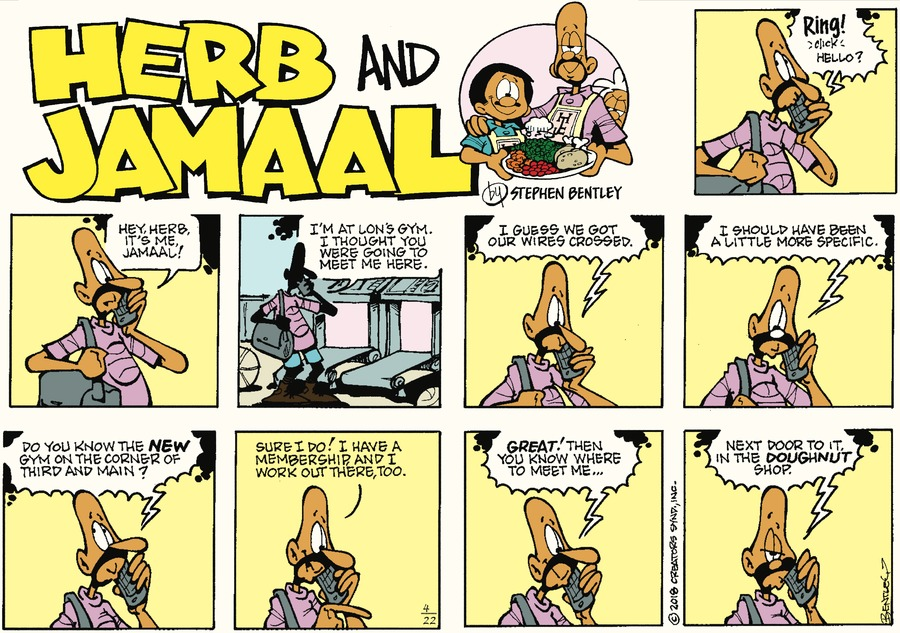 Herb and Jamaal Comic Strip for April 22, 2018
