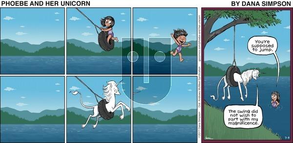 Phoebe and Her Unicorn on Sunday July 9, 2017 Comic Strip