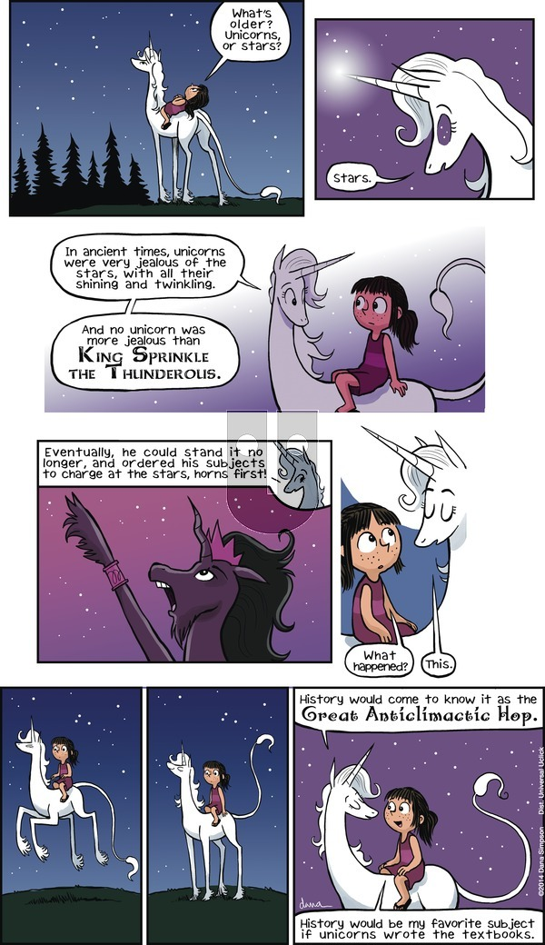 Phoebe and Her Unicorn - Sunday February 22, 2015 Comic Strip