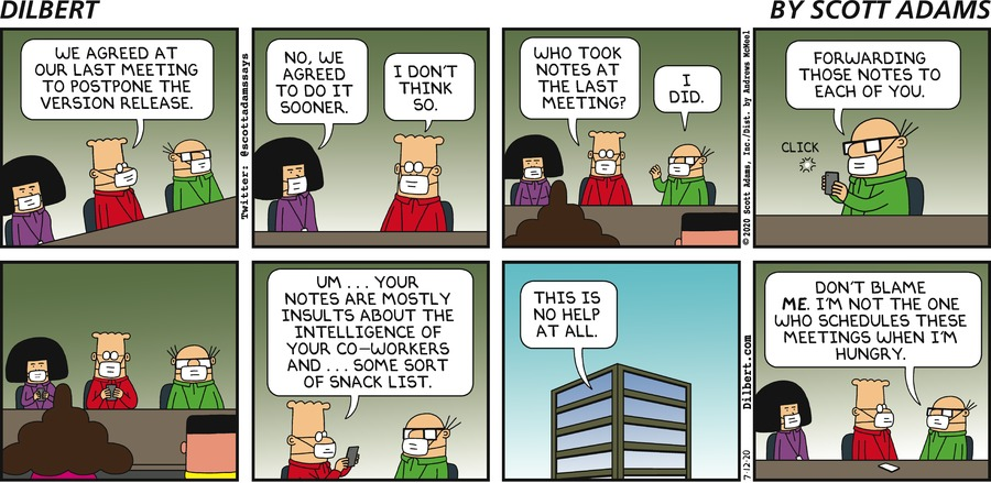 Wally Took Notes - Dilbert by Scott Adams