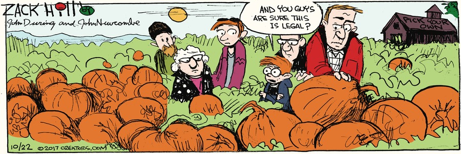 Zack Hill for Oct 22, 2017 Comic Strip