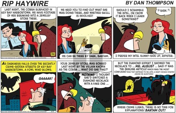 Rip Haywire on Sunday January 3, 2021 Comic Strip