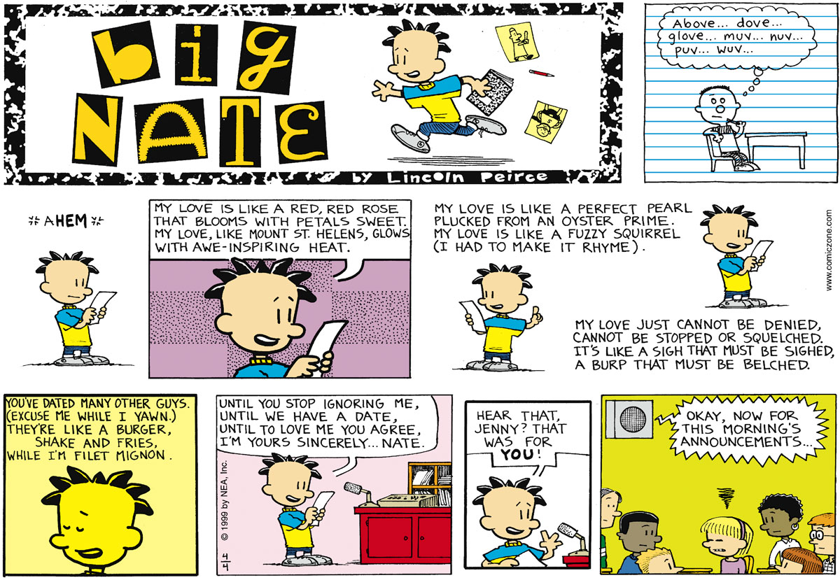 Big Nate for April 04, 1999 Comic Strip
