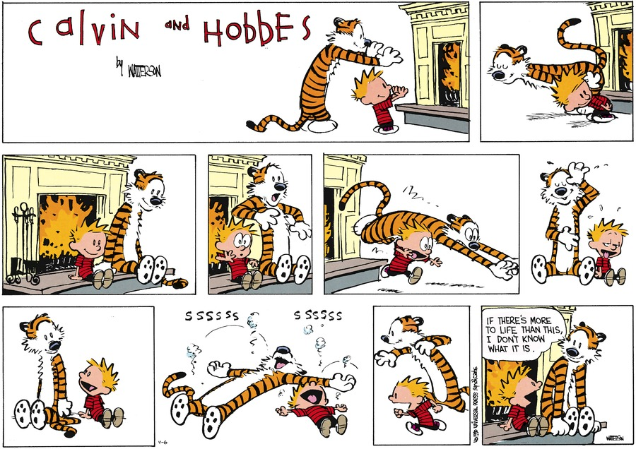 Calvin and Hobbes Comic Strip for April 06, 2014