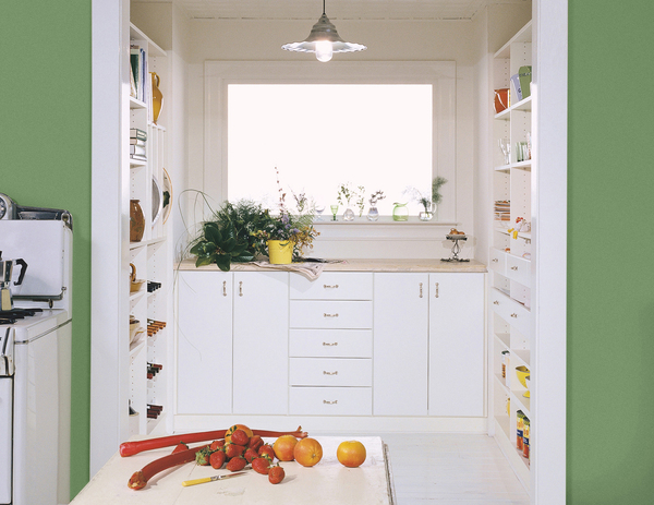 A well-stocked pantry should be both appetizing and visually appealing by storing like items together, making foodstuffs easy to find. Walk-in pantries are customizable, with extra counter space and shelves that house everything from dried goods to wine.