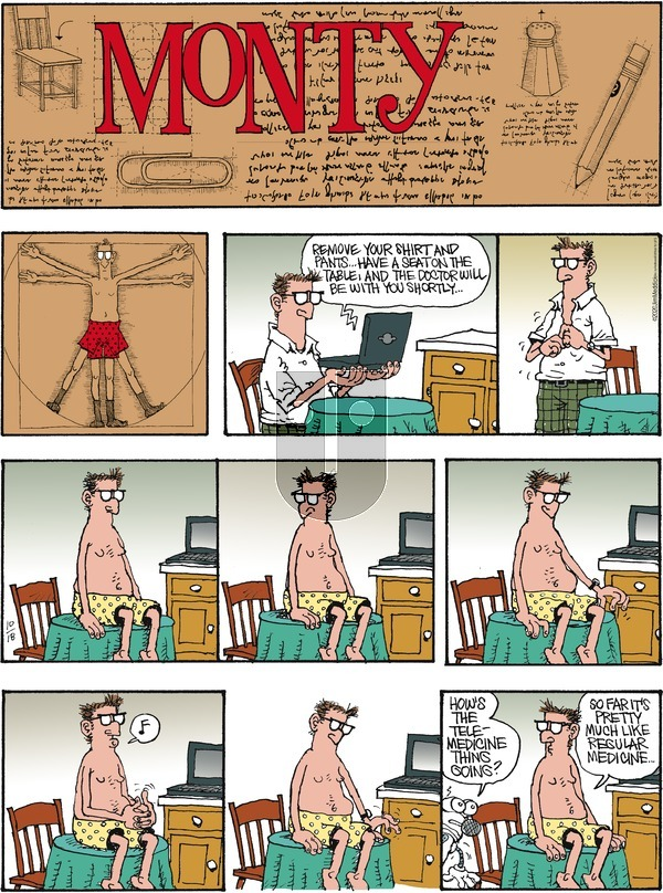 Monty on Sunday October 18, 2020 Comic Strip