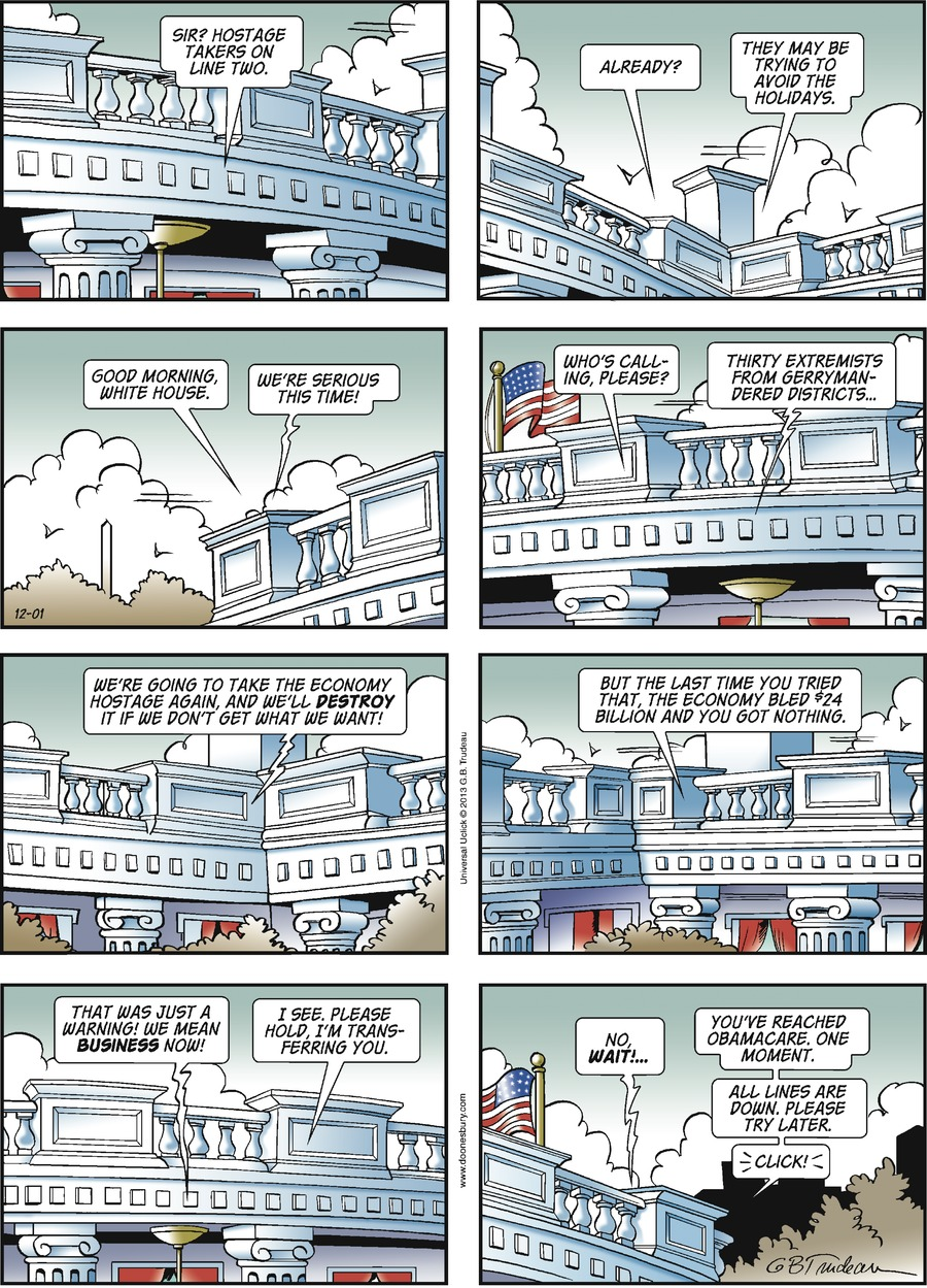 Doonesbury Comic Strip for December 01, 2013
