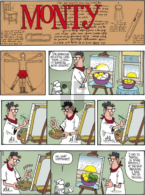 Monty on Sunday March 8, 2020 Comic Strip