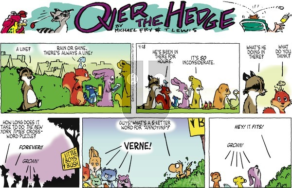 Over the Hedge on Sunday April 28, 2013 Comic Strip
