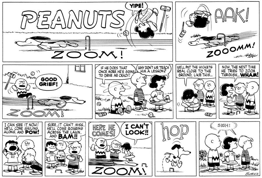 Peanuts Comic Strip for September 18, 1955