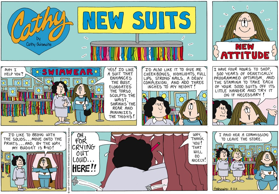 Cathy for May 25, 1997 Comic Strip