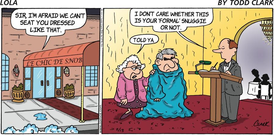 Lola for Feb 13, 2011 Comic Strip