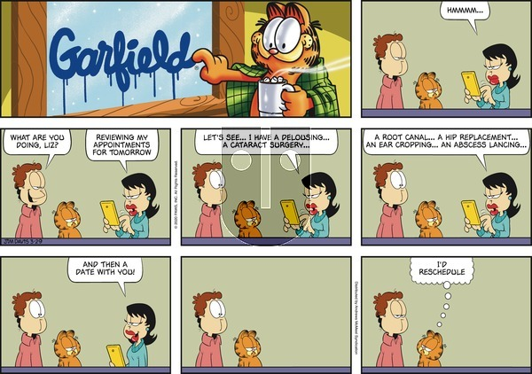 Garfield on Sunday March 29, 2020 Comic Strip