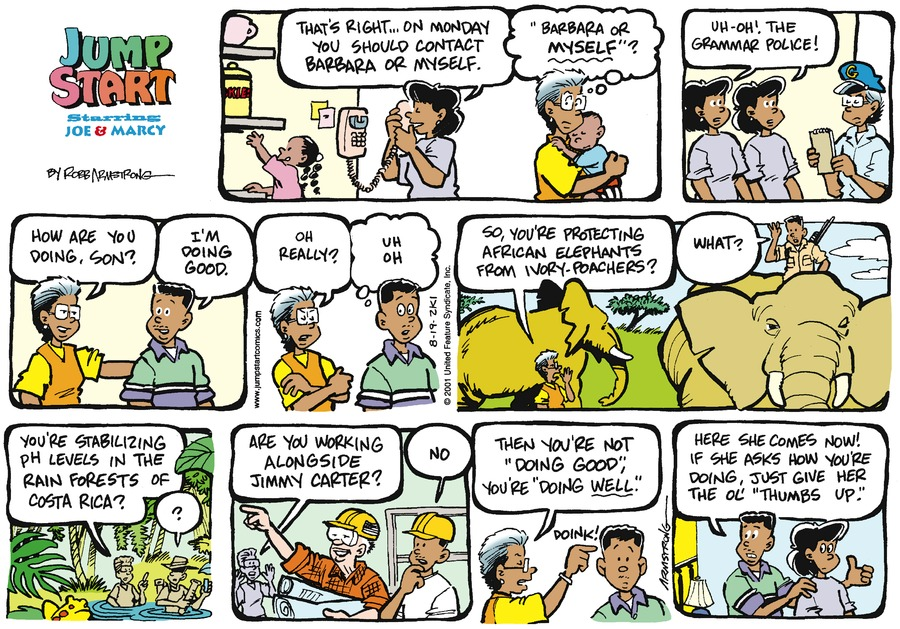 JumpStart Comic Strip for August 19, 2001
