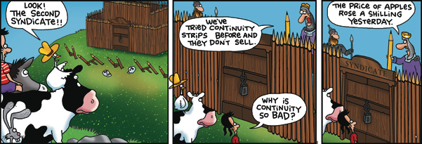 2 Cows and a Chicken Comic Strip for February 06, 2018