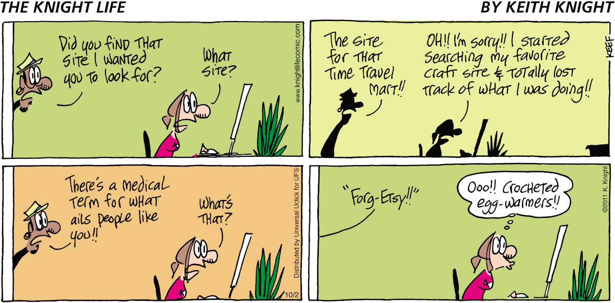 The Knight Life Comic Strip for October 02, 2011