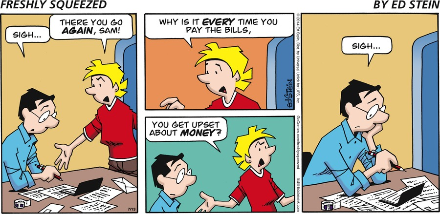 Freshly Squeezed Comic Strip for July 13, 2014