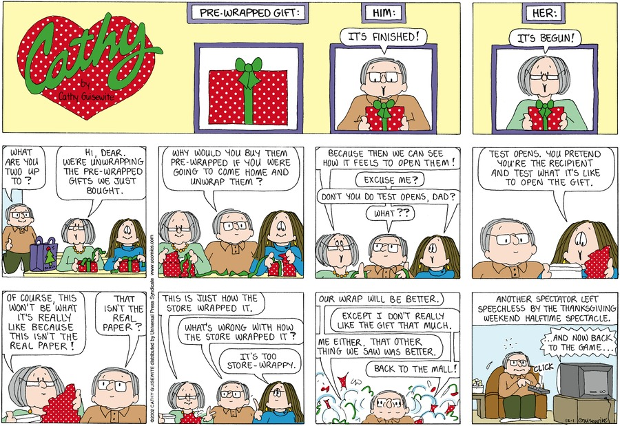 Cathy Comic Strip for December 01, 2013