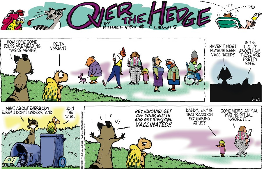 Over the Hedge Comic Strip for August 29, 2021