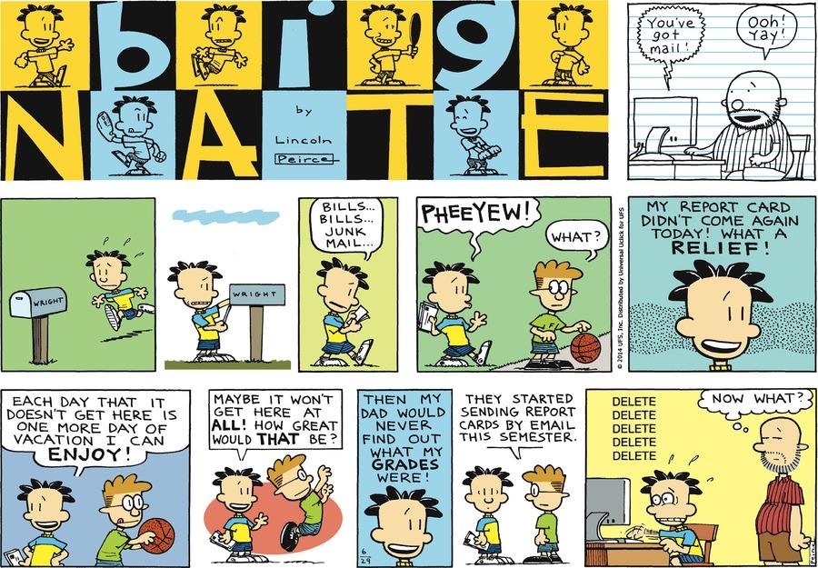 Big Nate Comic Strip for June 29, 2014