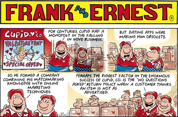 Frank and Ernest on Sunday February 9, 2020 Comic Strip