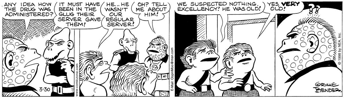 Alley Oop for Mar 30, 1998 Comic Strip