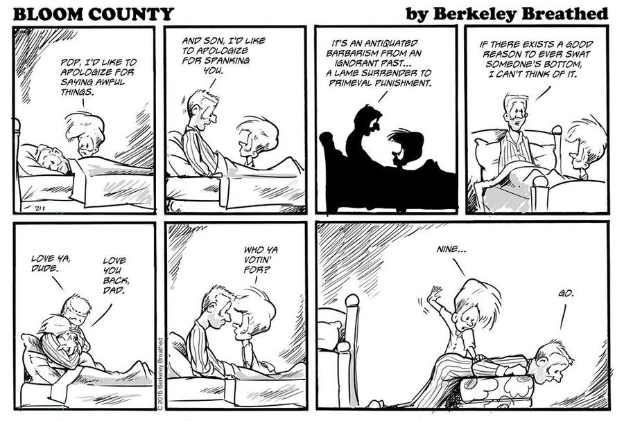 Bloom County 2018 Comic Strip for June 07, 2016