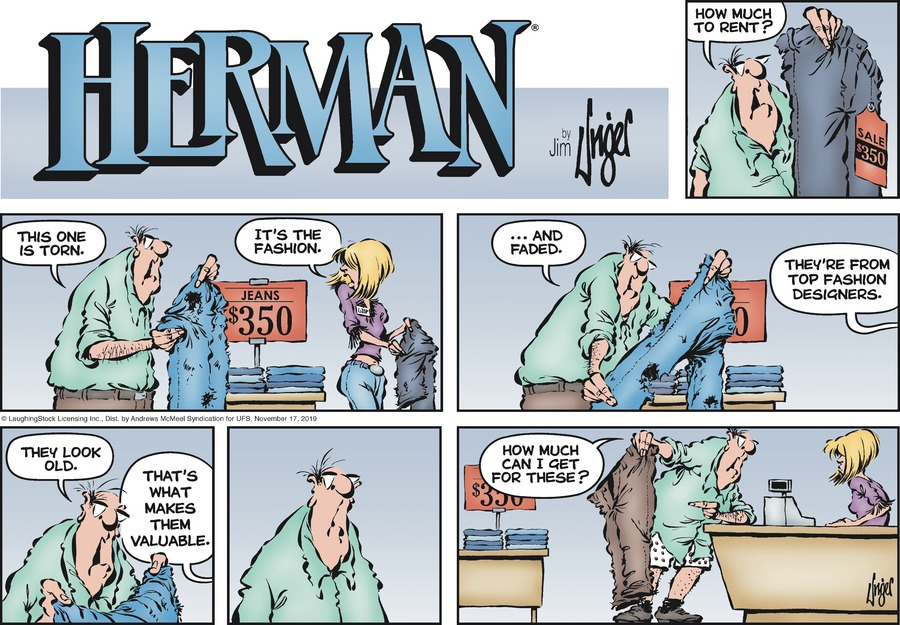 Herman Comic Strip for November 17, 2019